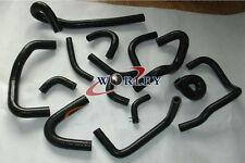NEW silicone heater hose kit for NISSAN skyline R32 R33 R34 GTR RB26DET BLACK