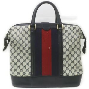 Gucci Travel Bag  Navy Blue PVC 632983