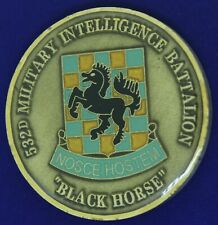 US Army 532nd Military Intelligence Battalion Black Horse Challenge Coin '