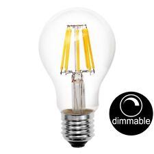 LUSION LED Filament GLS Light Bulb Edison Screw E27 8W Warm White Dimmable 20508