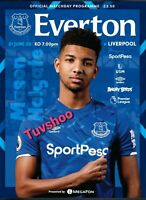 Everton v Liverpool Programme 21/6/2020!DERBY & TITLE DECIDER! READY TO POST!