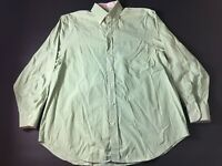 Peter Millar Mens Green Plaid Front Pocket Button Front Shirt Size Large