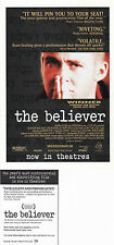 THE BELIEVER THE MOVIE UNUSED ADVERTISING COLOUR POSTCARD (a)