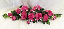 Rose Swag ~ MANY COLORS ~ 2 ft Silk Wedding Flowers Arch Gazebo Centerpiece