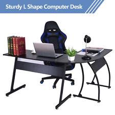 L-Shaped Desk Corner Computer Gaming Work Laptop Table Workstation Home Office