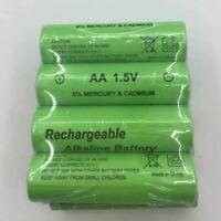 Rechargeable battery 4 pcs AA 3000 mAh AAA 2100 mAh 1.5V alkaline