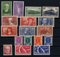 PP135350/ FRANCE STAMPS – YEARS 1935 - 1937 MINT MH SEMI MODERN LOT – CV 157 $