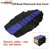 Motorcycle Bike Soft Rubber Seat Cover For Suzuki Black Blue Motocross Universal