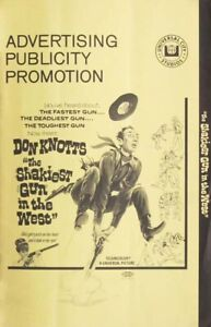 THE SHAKIEST GUN IN THE WEST great movie PRESSBOOK 1968