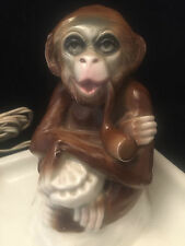 Singe Rosenthal Cendrier Veilleuse Porceleine Ape figurine