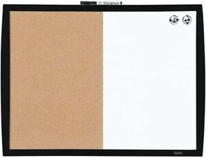 QUARTET COMBINATION MAGNETIC WHITEBOARD & CORKBOARD HOME OFFICE WHITE CORK BOARD