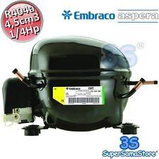 3S MOTORE Compressore EMT6152GK FRIGOR gas R404A CSIR 1/4Hp 4,5cc Embraco Aspera