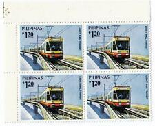PHILIPPINES 1984 RAIL TRANSPORT block of 4 SC#1707 MNH TRAINS, transport