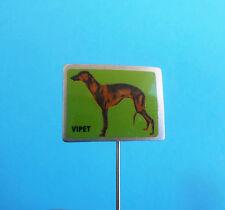 WHIPPET - vintage pin badge anstecknadel distintivo * dog breed