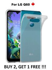 For LG Q60 (LMX525WA) Thin Soft TPU Transparent Silicone Rubber Cover Case