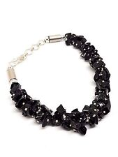 Black Tourmaline Gem Chip Bracelet Multi Gemstone Beaded Protective Gift Boxed