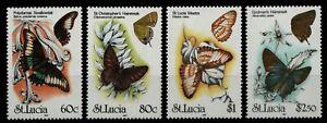 St. Lucia 1991 - Mi-Nr. 991-994 ** - MNH - Schmetterlinge / Butterflies