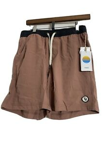 Vuori Mens Kore Shorts - Color Terracotta, Size SMALL-New With Tags,
