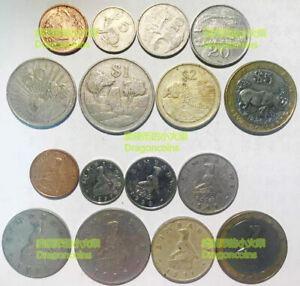 Zimbabwe set of 8 coins 1 5 10 20 50 cents 1 2 5 dollars bi-metal random years