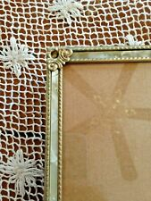 Vintage Faux Mother Of Pearl Inset Brass Picture Frame 8 X 10