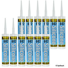 Clear Silicone Sealant & Adhesive for Hot Tub & Pool - Case of 12 - 10oz Tubes