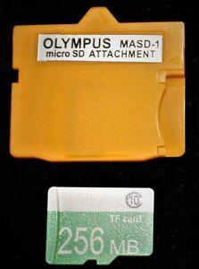 OLYMPUS-Fujifilm XD Picture Card Adapter+256MB MicroSDHC Memory Card