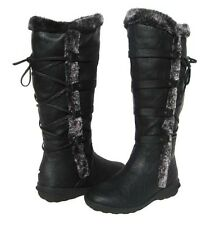 New Women's BOOTS Knee High Winter Fur Lined Snow Black shoe Ladies size 6.5