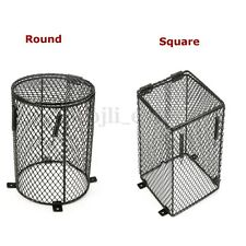 12x16cm Square / Round Reptile Heat Lamp Light Bulb Mesh Cage Guard Enclosure 1