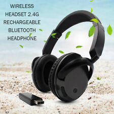 New TV PC Wireless Headset Rechargeable Bluetooth Headphone with Microphone