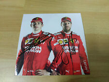 Leclerc & Vettel Signed new 2019 Ferrari F1 Official Postcard 15x15cm SF90