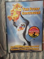 THE LION KING VIDEO 1 SHEET MOVIE POSTER
