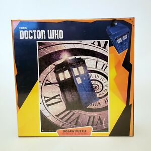 BBC Doctor Who 550 Piece Tardis Clock Jigsaw Puzzle, 18x24 New Sealed In Plastic