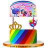 TRUE RAINBOW KINGDOM CUPCAKE CAKE TOPPER CUP SUPPLIES decoration party balloons