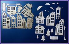 **BEAUTIFUL Christmas Village Metal Cutting Dies,Stencil,Craft,Card Making.DIY