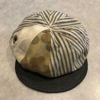 Vintage Fabric Remake Newsboy Hat Rare Size M Unused Free Shipping from Japan
