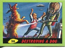Mars Attacks Heritage Green Parallel Base Card #36    Destroying a Dog