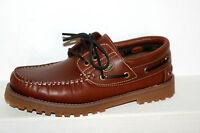 DOCKERS chaussures à lacets bateau MOCASSIN MARRON - Chevreuil femme homme