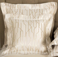 NEW Frette LUX CONTRADICTION  Shams SILK Ivory Beige EURO