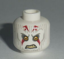 HEAD MF014 Lego Male White Inquisiter Yellow Eyes, Red Marking NEW Genuine Lego