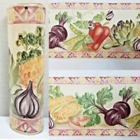 "1 Roll Vintage Wallpaper Border Vegetables Country Kitchen Mayfair 7"" x 5.5"""