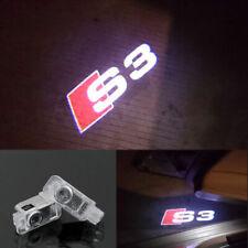 2Pcs Audi S3 LOGO GHOST LASER PROJECTOR DOOR UNDER PUDDLE LIGHTS FOR AUDI S3