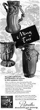 Roseville Ming Tree Art Pottery VASE From Land of the Mandarins 1949 Print Ad