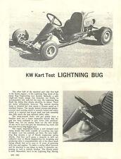 Vintage 1962 Bug Lightning Bug Go-Kart Test Report 3 Pages