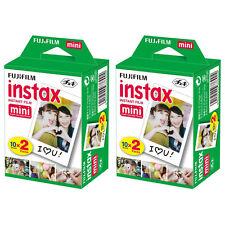 2 Packs 40 Instant Photos FujiFilm Fuji Instax Mini Film Polaroid 7S 8 50S SP-1