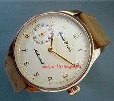 PARNIS 44mm Rose gold case Milk yellow dial hand winding Men's watch Sapphire