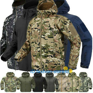 Hot ESDY Shark Skin Soft Shell Men's Outdoors Military Tactical Coat Jacket * UK