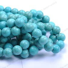 Wholesale Turquoise Gemstone Round Loose Spacer Beads Jewelry Makings 4/6/8/10MM