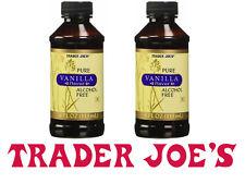 2x Trader Joe's @ Pure Vanilla Extract Flavor Alcohol Free @ 2x 118ml/4fl.oz