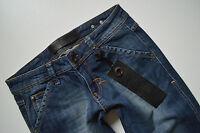 *493 NEU RICH & ROYAL Damen Hüft Jeans Hose JIIL MC BAIN BOOTCUT W 28 L 32