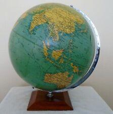 More details for vintage 13.5 inch philips challenge globe on wood base 1966.